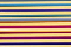 Μολύβι χρώματος κινηματογραφήσεων σε πρώτο πλάνο στο διάστημα Στοκ Εικόνες