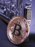 Μονάδα επεξεργασίας Bitcoin και γραφικής παράστασης ή GPU Στοκ Εικόνες