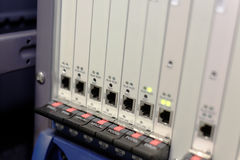 Μονάδα σύνδεσης σε έναν κεντρικό υπολογιστή Στοκ φωτογραφία με δικαίωμα ελεύθερης χρήσης