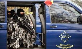 Μονάδα Antiterorist της Ρουμανίας Στοκ Εικόνες