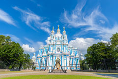 Μονή Smolny ή μονή Smolny της αναζοωγόνησης Στοκ εικόνες με δικαίωμα ελεύθερης χρήσης