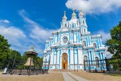 Μονή Smolny της αναζοωγόνησης σε Άγιο Πετρούπολη, Ρωσία Στοκ Εικόνα