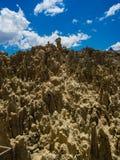 Μοναδικές γεωλογικές μορφές απότομων βράχων σχηματισμών, πάρκο κοιλάδων φεγγαριών, Λα στοκ εικόνες με δικαίωμα ελεύθερης χρήσης