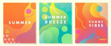 Μοναδικές καλλιτεχνικές θερινές κάρτες Στοκ εικόνα με δικαίωμα ελεύθερης χρήσης