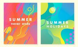 Μοναδικές καλλιτεχνικές θερινές κάρτες Στοκ φωτογραφία με δικαίωμα ελεύθερης χρήσης