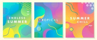 Μοναδικές καλλιτεχνικές θερινές κάρτες Στοκ Φωτογραφία