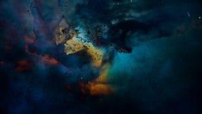Μοναδική αναψυχή μορίων του νεφελώματος λιμνοθαλασσών διανυσματική απεικόνιση