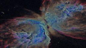 Μοναδική αναψυχή μορίων του νεφελώματος πεταλούδων ελεύθερη απεικόνιση δικαιώματος