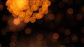 Μοναδική ζωηρόχρωμη επίδειξη πυροτεχνημάτων με το bokeh κατά τη διάρκεια της εθνικής εορτής, του νέου κόμματος έτους ή του ουρανο απόθεμα βίντεο