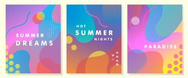 Μοναδική καλλιτεχνική θερινή κάρτα Στοκ εικόνα με δικαίωμα ελεύθερης χρήσης