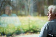 Μοναξιά στη μεγάλη ηλικία Στοκ Εικόνα