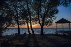 Μοναξιά στο ηλιοβασίλεμα Στοκ Εικόνες