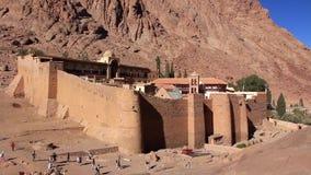 Μοναστήρι Αγίου Catherines. Χερσόνησος του Σινά. Αίγυπτος απόθεμα βίντεο