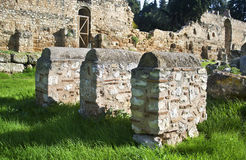 Μοναστήρι αρχαία Αθήνα Ελλάδα Daphni Στοκ εικόνα με δικαίωμα ελεύθερης χρήσης