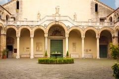 μοναστήρι Καθεδρικός ναός, Σαλέρνο Ιταλία στοκ εικόνες με δικαίωμα ελεύθερης χρήσης