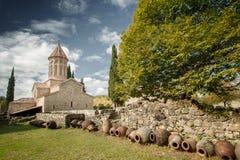 Μοναστήρι κοιλάδων Alazani στοκ εικόνα