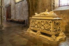 Μοναστήρι Λισσαβώνα του Luis de Camões Tomb Jeronimos Στοκ Εικόνα