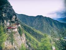 Μοναστήρι Μπουτάν τιγρών Στοκ Εικόνες