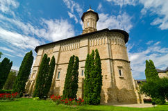 μοναστήρι Ρουμανία dragomirna Στοκ Εικόνα