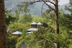 Μοναστήρι στα βουνά Altai Ρωσία, Σιβηρία, το Altai Στοκ φωτογραφία με δικαίωμα ελεύθερης χρήσης