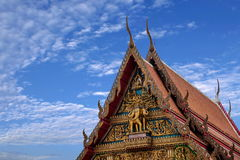 Μοναστήρι στη Μπανγκόκ, φτωχογειτονιές της Ταϊλάνδης Στοκ εικόνα με δικαίωμα ελεύθερης χρήσης
