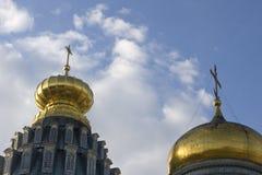 Μοναστήρι στη Ρωσία νέα Ιερουσαλήμ, θόλος καθεδρικών ναών Στοκ εικόνες με δικαίωμα ελεύθερης χρήσης