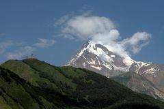 μοναστήρι στο βουνό στοκ εικόνες