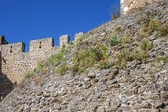 Μοναστήρι της διαταγής του Chris - ο τοίχος φρουρίων και το shaf Στοκ Εικόνες