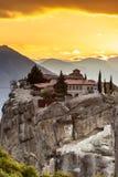 Μοναστήρι της ιερής τριάδας ι σε Meteora, Ελλάδα Στοκ φωτογραφίες με δικαίωμα ελεύθερης χρήσης