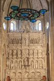 Μοναστήρι της Ισπανίας Poblet, στην Καταλωνία Στοκ Φωτογραφία