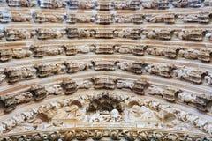 Μοναστήρι της Σάντα Μαρία DA Vitoria σε Batalha διακόσμηση arche Στοκ Εικόνες