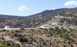 Μοναστήρι του Ιωάννη Siderianos επιβαρύνσεων, νησί της Μήλου, Ελλάδα Στοκ Φωτογραφίες