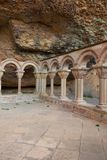 Μοναστήρι του μοναστηριού του San Juan de Λα Pena Huesca, Αραγονία, Ισπανία στοκ φωτογραφία