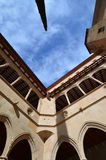 Μοναστήρι του Μοντσερράτ (μοναστήρι του Μοντσερράτ) Ισπανία Το archi Στοκ εικόνα με δικαίωμα ελεύθερης χρήσης