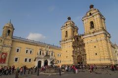Μοναστήρι του Σαν Φρανσίσκο στη Λίμα στοκ φωτογραφία