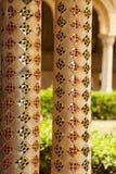 Μοναστήρι του Benedictine μοναστηριού στον καθεδρικό ναό Monreale στη Σικελία Γενικές άποψη και λεπτομέρειες των στηλών και των κ Στοκ φωτογραφίες με δικαίωμα ελεύθερης χρήσης