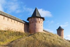 Μοναστήρι του ST Euthymius τοίχων στο Σούζνταλ, που ιδρύεται Στοκ εικόνα με δικαίωμα ελεύθερης χρήσης