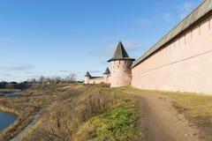 Μοναστήρι του ST Euthymius τοίχων στο Σούζνταλ, που ιδρύεται Στοκ Φωτογραφίες