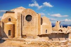 Μοναστήρι του ST Peter και του ST Paul νησί Ηρακλείου, Κρήτη Στοκ Εικόνες