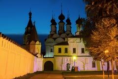 Μοναστήρι το βράδυ Στοκ Εικόνες