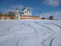 Μοναστήρι το χειμώνα Στοκ Φωτογραφία