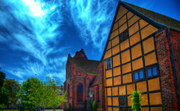 μοναστήρι 01 hdr ystad Στοκ Εικόνες