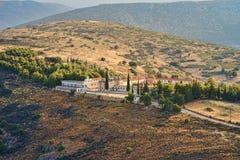 Μοναστήρι Agion Anargiron επάνω από Argos στοκ φωτογραφία με δικαίωμα ελεύθερης χρήσης