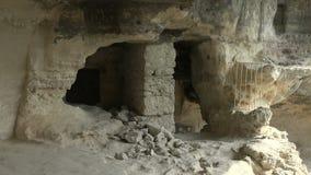 Μοναστήρι Aladzha στα βουνά Βάρνα bulblet απόθεμα βίντεο