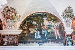 Μοναστήρι Arequipa Περού Santa Catalina έργων ζωγραφικής Στοκ Εικόνες
