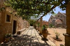 Μοναστήρι Arkadi και ναυπηγείο χωρών, Κρήτη Στοκ εικόνα με δικαίωμα ελεύθερης χρήσης
