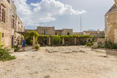 Μοναστήρι Arkadi Κρήτη Στοκ φωτογραφία με δικαίωμα ελεύθερης χρήσης