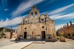 Μοναστήρι Arkadi στο νησί της Κρήτης, Ελλάδα Στοκ εικόνα με δικαίωμα ελεύθερης χρήσης