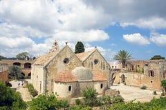 Μοναστήρι Arkadiou στο νησί της Κρήτης Στοκ Εικόνες