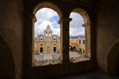 Μοναστήρι Arkadiou Moni - Κρήτη, Ελλάδα Στοκ φωτογραφία με δικαίωμα ελεύθερης χρήσης